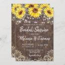 Country Lace Sunflowers Bridal Shower