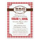 Couples Shower BBQ Invitation, Rustic Country
