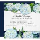 Couples Shower Navy Blue n White Hydrangea Floral