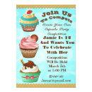 Cupcake Wars Bake Off Birthday Blue Swirls Invite