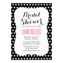 Cute Black & White Polka Dots Bridal Shower