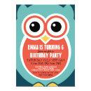 Cute Owl Bird Birthday Invitation  for Kids