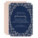 Delicate Frame Blush & Navy Bridal Shower Invite