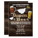 Diapers & Beer Party Man Men Daddy to Be Shower Invitation
