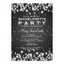 Elegant Bachelorette Party Winter Sparkle Black