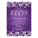 Elegant Bachelorette Party Winter Sparkle Purple