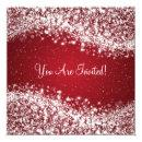 Elegant Bridal Shower Sparkling Wave Red