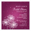 Elegant Bridal Shower Summer Sparkle Merlot Pink Invitations
