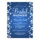 Elegant Bridal Shower Winter Sparkle Blue