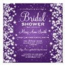 Elegant Bridal Shower Winter Sparkle Purple