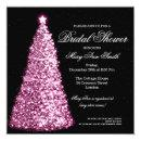 Elegant Christmas Bridal Shower Pink Invitations