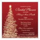 Elegant Christmas Bridal Shower Red Gold