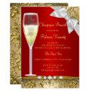 Elegant Gold Red White Champagne Brunch