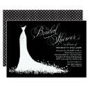 Elegant Gown | Black and White Bridal Shower