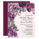 Elegant Lilac Plum Purple Floral Bridal Shower