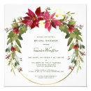 Elegant Poinsettia Floral Christmas Bridal Shower