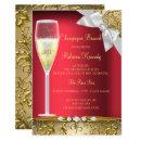 Elegant Red Gold White Champagne Brunch