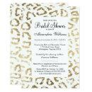 Elegant white faux gold animal print bridal shower