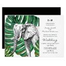 Elephant Safari Wedding  Watercolor