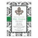 Emerald Green Fleur de Lis Bridal Shower