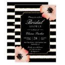 Ethereal Peach Magnolia Stripe Wedding Black White