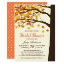 Fall Bridal Shower Classy Maple Leaves Autumn Tree Invitation