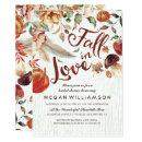 Fall in Love Autumn Harvest Pumpkin Bridal Shower Card