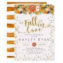 Fall in Love Floral Leaves Pumpkins Bridal shower