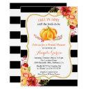 Fall in Love Pumpkin Floral Fall Bridal Shower