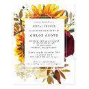 Fall Sunflowers Rose Bridal Shower Invitation Post
