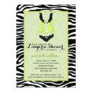 Fancy Wild Lime Zebra Lingerie Shower Bachelorette