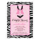 Fancy Wild Pink Zebra Lingerie Shower Bachelorette