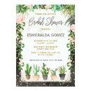 Fiesta Bridal Shower Invite Succulent Cactus Party