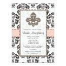 Fleur de Lis Bridal Shower  Pink Black
