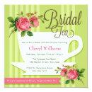 Floral Bridal Tea Invitations