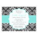 Floral Damask baby or bridal shower