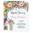 Floral Mason Jar Bridal Shower