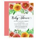 Floral Watercolor Flowers Greenery Baby Shower
