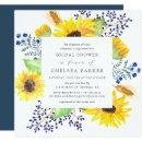 Flowerfields Square Bridal Shower Invitation