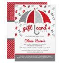 Gift  Bridal Shower Invitation, Red, Gray