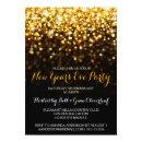 Gold Black Hollywood Glam New Year's Eve Party Invitation