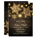 Gold Glitter Snowflakes Rustic Bridal Brunch