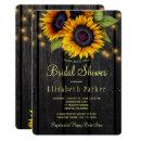 Gold sunflowers country barn wood bridal shower