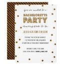 Gold White Glitter Confetti Bachelorette Party