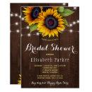 Golden sunflowers rustic barn wood bridal shower