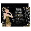 Great Gatsby Flapper Girl Bridal Shower Invitation