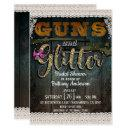 GUNS AND GLITTER Wood Lace Rustic Bridal Shower