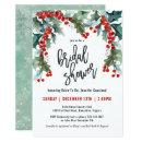 Holiday Greenery Watercolor Bridal Shower