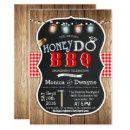Honey Do BBQ Couples Engagement Invitation