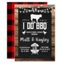 I do BBQ Couples Shower Country Wooden Chalkboard